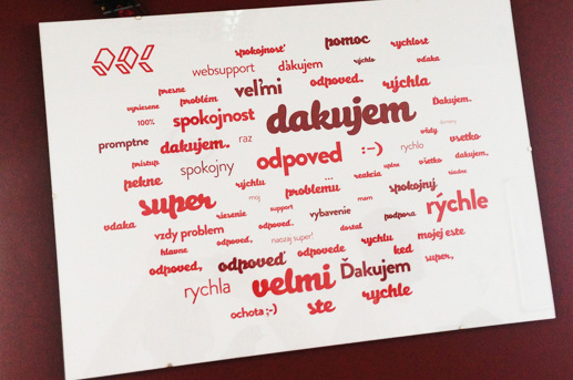 Tagcloud slovních hodnocení