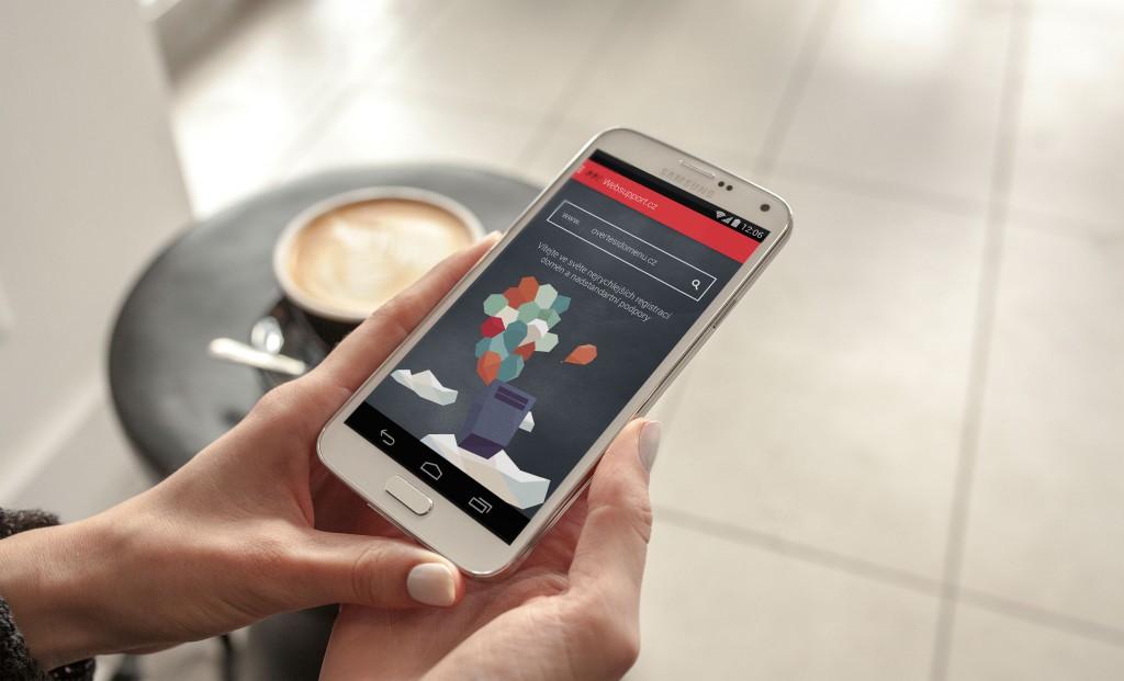 Android mobilní aplikace WebSupportu